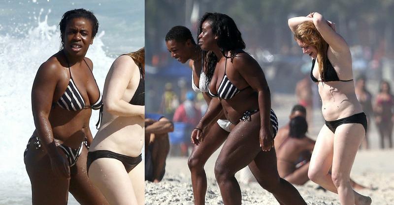 sexy čierna dievča korisť